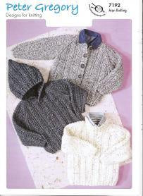 7192 Peter Gregory - Children's Sweater and Jackets
