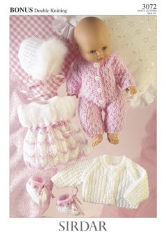 3072 Dress, Bootees, All in One, Jacket and Bonnet