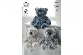 9019 Luxe Fur Bears in 3 Sizes