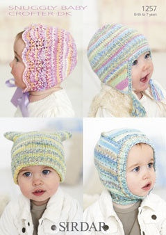1257 Snuggly Baby Crofter DK - Baby's/Child's Hats