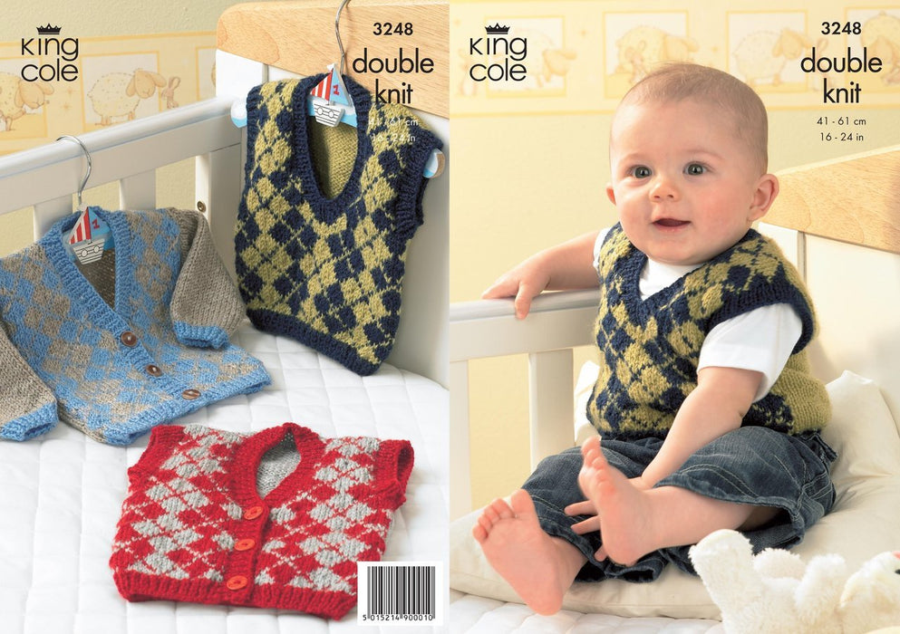 3248 Double Knitting - Cardigan, Waistcoat and Slipover