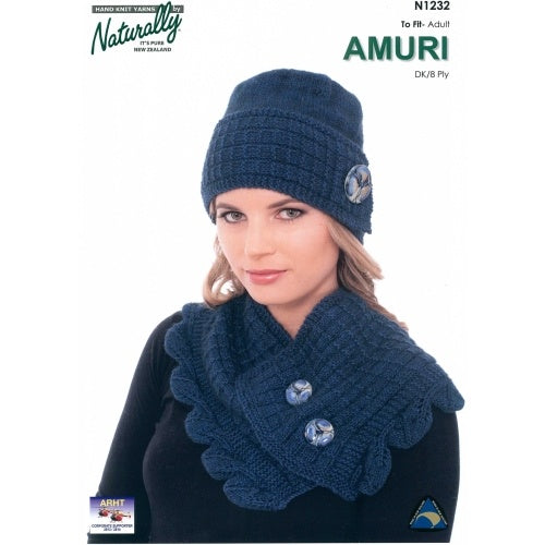 N1232 Hat & Leaf Edged Cowl