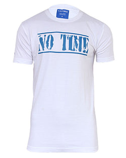 No Time Print Tshirt - White