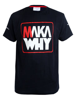 Maka Why Print T-shirt - Blue