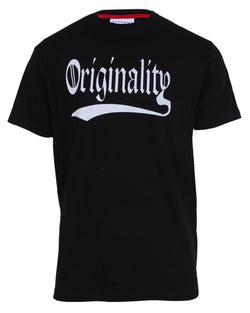 Originality Print T-Shirt - Black