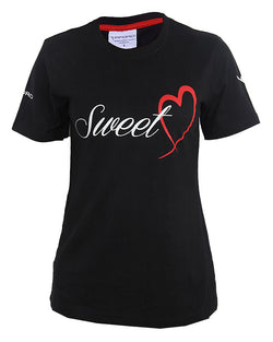 Sweet Heart Print T-Shirt - Black