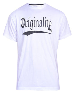 Originality Print T-Shirt - White