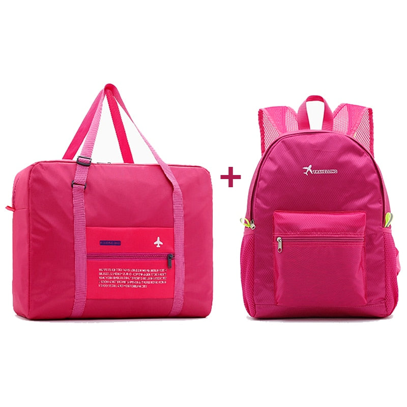 Women Water Proof Travel Bags with Folding Large Capacity Duffle Bags