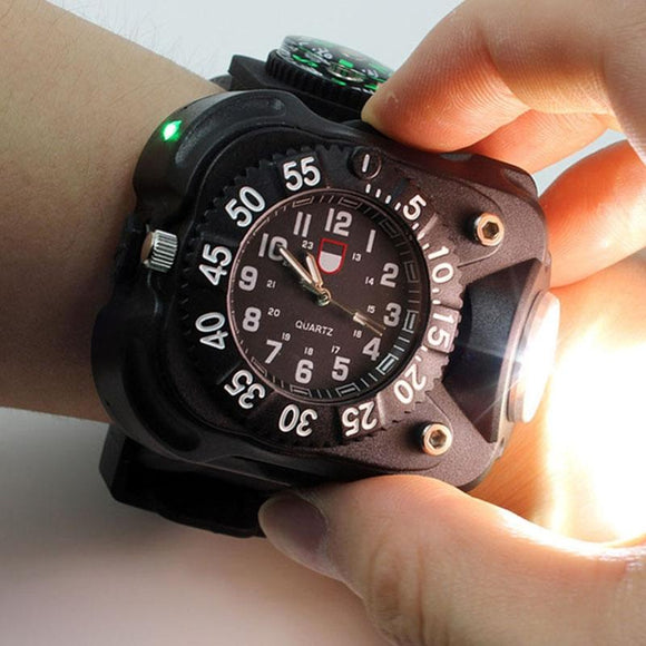 Camping Watch (Torch Light & Compass)