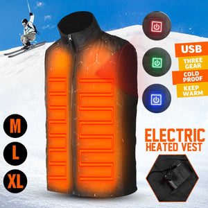 USB Electric Heated Warm Winter Men and Women Thermal Outdoor Sleeveless Vest