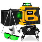 Laser Lines Measuring Tool - 3D Self-Leveling 360 Horizontal And Vertical Cross - Super Powerful Green Laser Beam Line
