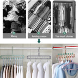 Space Saving Fold-able Wardrobe Organizer