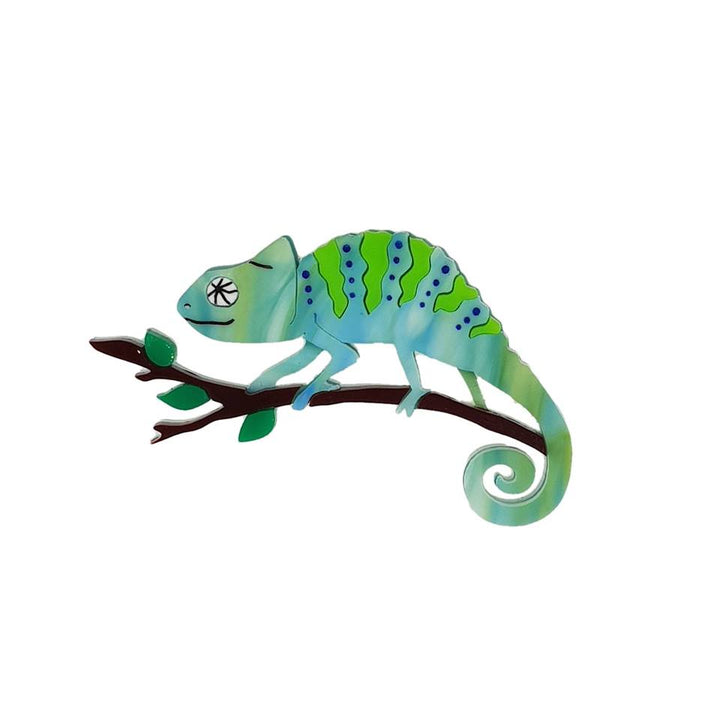 Cherryloco : Enchanted Garden : Chameleon brooch (PRE-ORDER, NOT IN STOCK, DUE MID MAY)