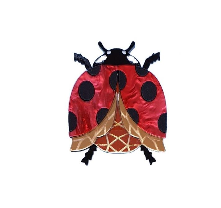 Cherryloco : Enchanted Garden : Ladybird (ladybug) brooch (PRE-ORDER, NOT IN STOCK, DUE MID MAY)