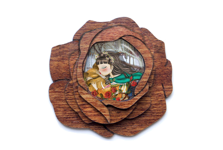 LaliBlue :  Fairytales : Beauty and the Beast Brooch