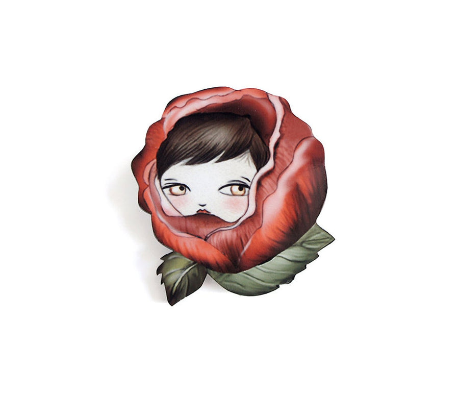 LaliBlue : Nature : Rose Brooch