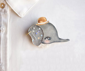 LaliBlue : Nature : Elephant Brooch