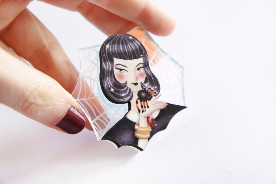 LaliBlue : Spider Woman Brooch (PRE-ORDER : NOT IN STOCK - DUE LATE SEPTEMBER)