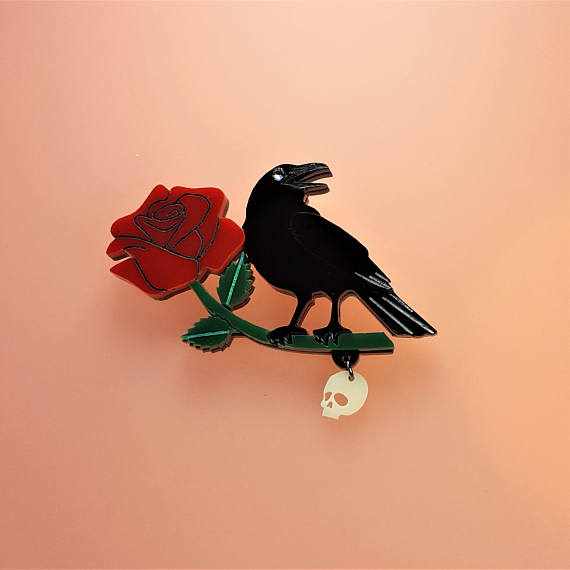 Cherryloco : Dark desire raven brooch (PRE-ORDER, NOT IN STOCK, DUE MID MAY)
