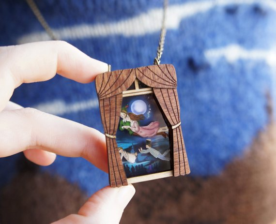 LaliBlue :  Fairytales : Peter Pan Brooch (PRE-ORDER : not in stock, Due Early May)