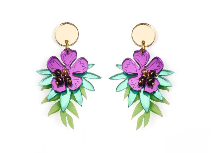 LaliBlue : Classic Films : Wild Flowers Earrings   (NOT IN STOCK DUE LATE JULY)