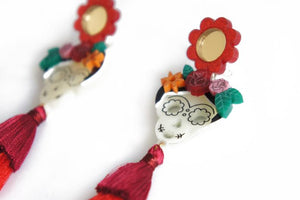 LaliBlue : Halloween : Catrinas Earrings (PRE-ORDER : not in stock, Due Mid April)