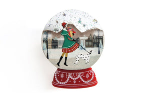 Christmas : Shopping Snow Globe Brooch