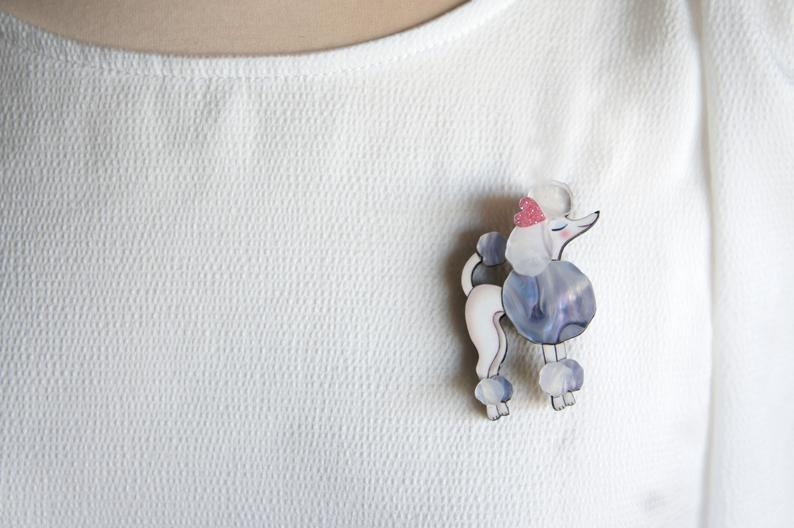 LaliBlue : Love : Poodle Brooch (PRE-ORDER : NOT IN STOCK, DUE IN EARLY SEPTEMBER)