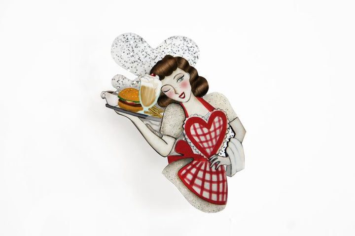 LaliBlue : Love : Pin up Waitress Brooch