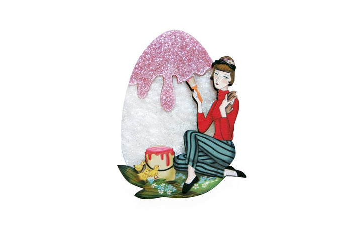 LaliBlue : Easter : Girl painting Easter Egg  (PRE-ORDER DUE LATE APRIL)