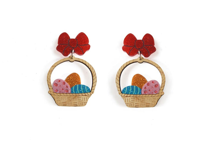 LaliBlue : Easter : Easter Egg Basket Earrings