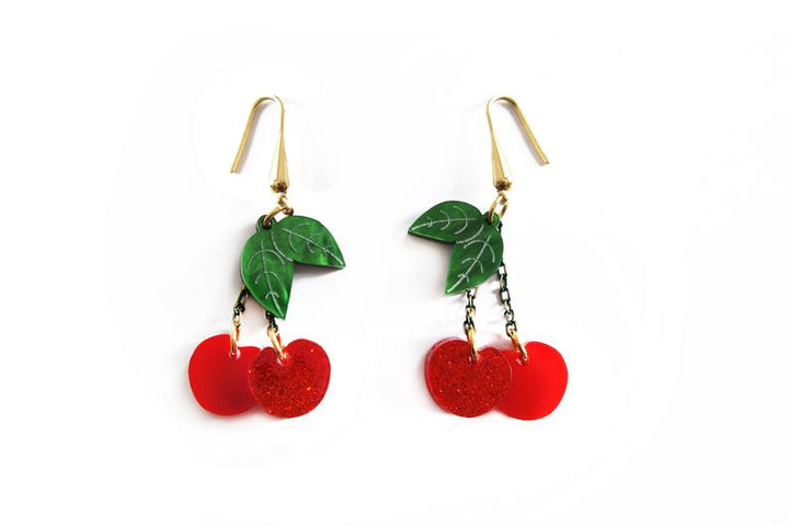 LaliBlue : Wonderful 50's : Cherry earrings (PRE-ORDER : not in stock, Due LATE April)
