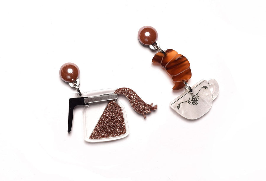 LaliBlue : Classic Films : Coffee Earrings (PRE-ORDER : NOT IN STOCK, DUE IN EARLY SEPTEMBER)