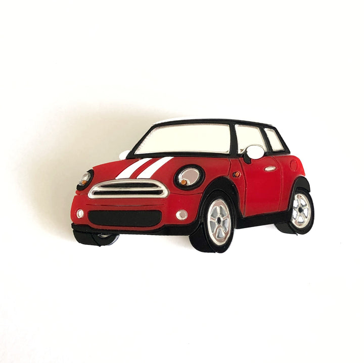 Alena Kochenkova : Mini Cooper Car Brooch - Red