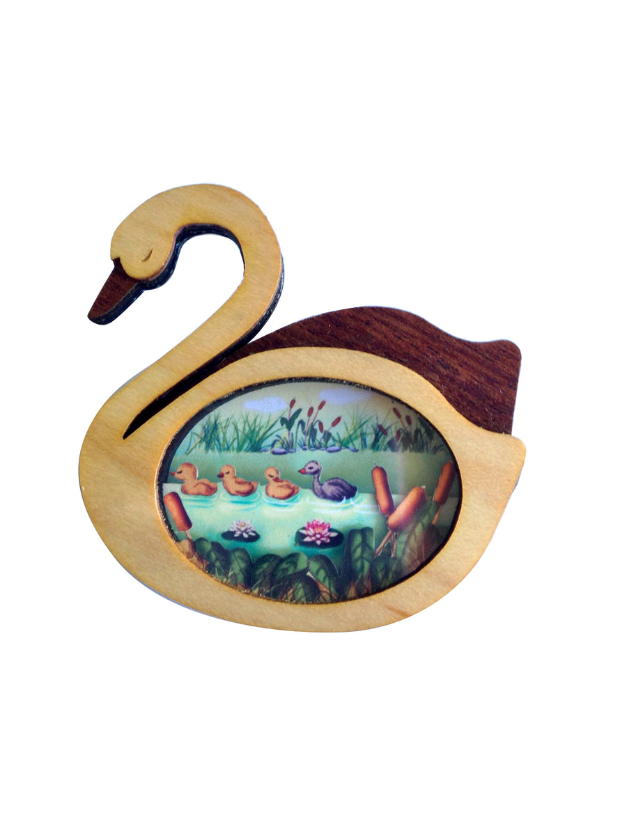 LaliBlue :  Fairytales : The Ugly Duckling Brooch