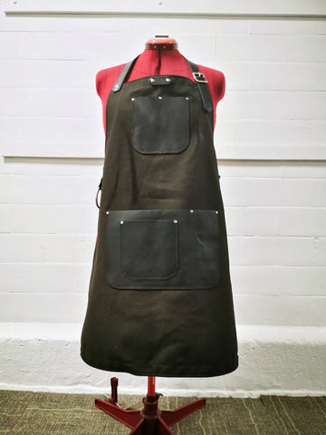 Work Apron - Canvas & Leather