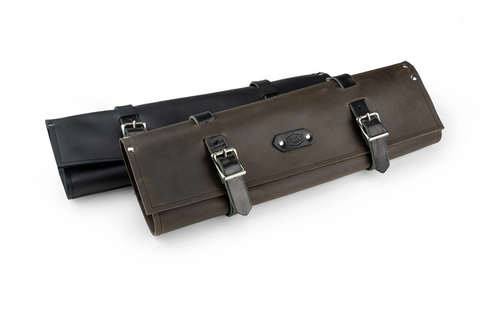 4 Knife Leather Knife Roll - Knife Bag