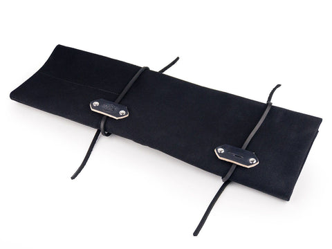 8 Piece Canvas and Leather Knife Roll