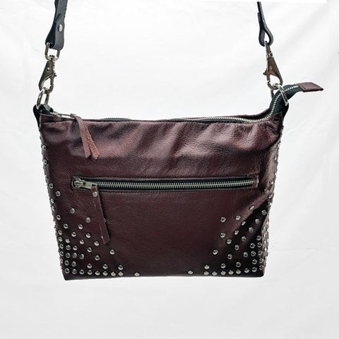 CandyAss Leather Shoulder Bag with Pentagram Lining