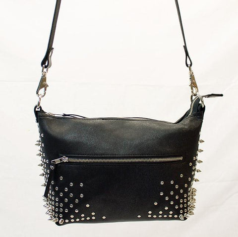 Black Sparkle BadAss Shoulder Bag