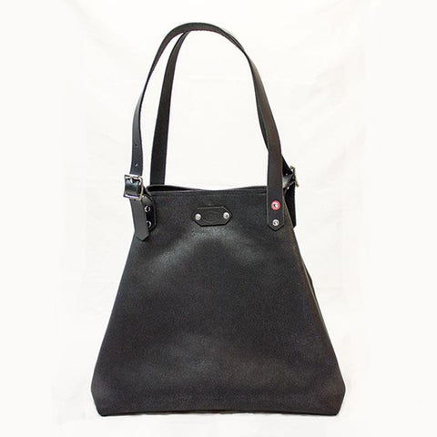 Black Sparkle Leather Tote Bag