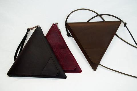 Leather Triangle Bag. Party!