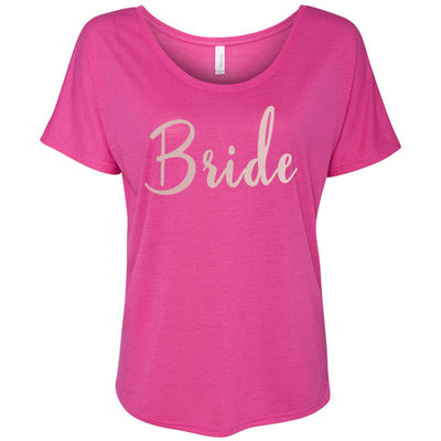 BRIDE - (Pink Rose) Bella Brand Ladies Slouchy Tee Feminine Women T-shirt - 6 colors available PLUS Size S-2XL MADE IN THE USA