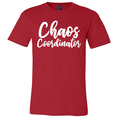 Chaos Coordinator - Bella & Canvas - O-neck Unisex Short Sleeve Jersey Mom Tee - 12 Colors Available Plus Size XS-4XL - MADE IN THE USA