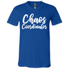 Chaos Coordinator - Bella & Canvas Unisex V-neck Jersey Mom T-Shirt - 12 Colors Available Plus Size XS-3XL - MADE IN THE USA
