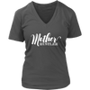 Mother Hustler - Womens V-Neck T-shirt Mom Tee 7 Colors Available Plus Size S-4XL - MADE IN THE USA