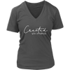 Created with a purpose - Christian Womens V-Neck 7 Colors Available Plus Size S-4XL - MADE IN THE USA