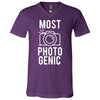 MOST PHOTOGENIC - Photography - Bella & Canvas Unisex V-neck Jersey T-Shirt - 12 Colors Available Plus Size XS-3XL - MADE IN THE USA