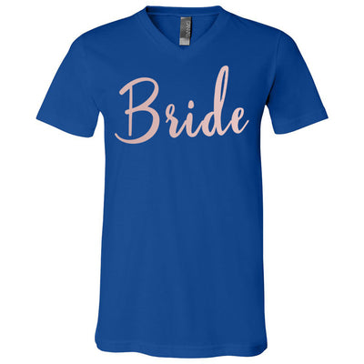Bride - Bella + Canvas Unisex V-neck Jersey T-Shirt - 10 Colors Available Plus Size XS-3XL - MADE IN THE USA