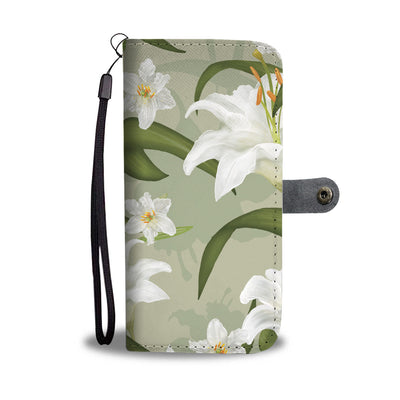 Lily Floral Print Cell Phone Wallet Case